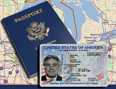 passport card or book options