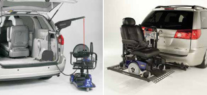 Scooter And Power Wheelchair Lifts For Vans Or Suvs Come