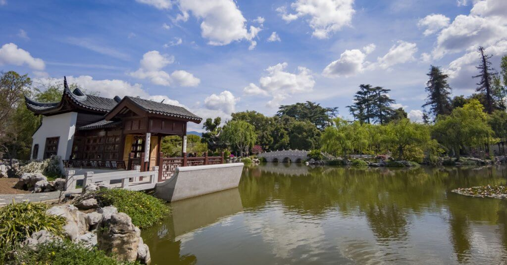 The beautiful Chinese Garden of Huntington Library
