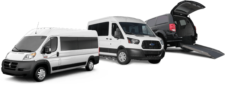 Ram Promaster, Ford Transit and a black rear entry van