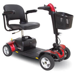 red 4 wheel Go-Go Sport electric mobility scooter