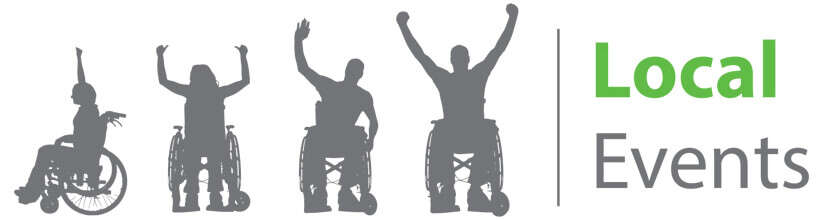 silhouette of people in wheelchairs - local events